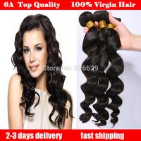 Brazilian virgin hair loose wave mocha hair 4pcs lot free shipping queen hair products 100% human hair extension
