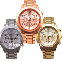 2013 Fashion Men Steel Watch 100pcs/lot,Stainless Steel Boy Friend Wrap Quartz Watch,3 Colors,DHL Free Shipping To Usa/Europe