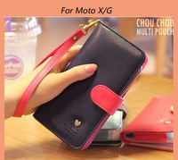 High Quality PU Leather wallet/pouch/ mobile phone bag case for Motorola Moto E XT910 XT925 DROID MB886 ATRIX RAZR MAXX Moto X/G