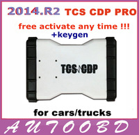 2pcs/ lot! Quality A White TCS CDP Pro Plus led cdp 2013.R3 with LED LIGHT+21 languages Flight&Speaker function for cars/ trucks