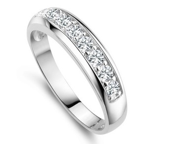 Стерлингового серебра 925 Кольцо для женщин с 8шт CZ моделируется Алмазный женской ...
