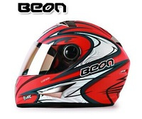 2014 new authentic BEON warm motorcycle helmet / cross-country winter full helmet free shipping