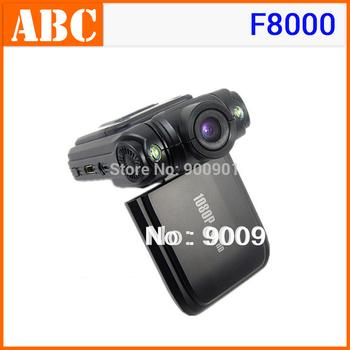 Original F8000 Car DVR Camera Camcorder with Ambarella chip Full HD 1920x1080 30fps HDMI Russian USB Cigarette Charger Adapter