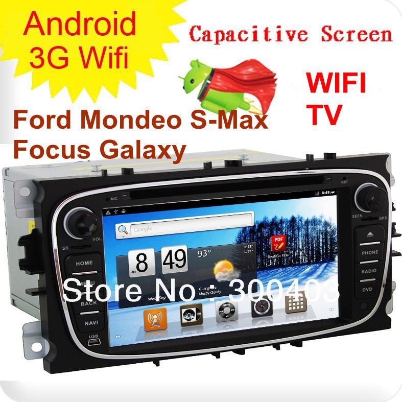 In Dash 2Din Car Dvd Player Fast Android 4.0 Wifi 3G Gps Raido Cd Ipod Bluetooth
