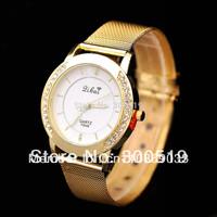 JW184 Classic Fashion Imitation Diamond Setting Watch Women Wrist Quartz Watch Dress Watch Golden Color