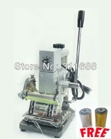 HOT FOIL STAMPING MACHINE TIPPER BRONZING PVC CARD Hot Foil Stamping Machine Tipper For ID PVC Cards +2 FREE FOIL PAPER