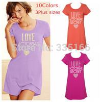 New Women Cotton Sleepshirt With Letter Printing 11Colors, Comfy&Cute Signature Sleepwear T Shirt Dress S--L Plus Size  #JM06639