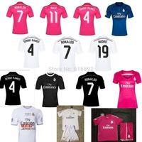 2014 Champions League Real Madrid jersey home RONALDO BALE FINAL LIBSON 2015 Real Madrid 14 15 pink shirt goalkeeper kids women