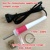 White&pink Iron-on Hotfix  Hot Fix Applicator Wand For Crystal Gem Rhinestone 1pcs/lot Hotfix Tool Free Shipping