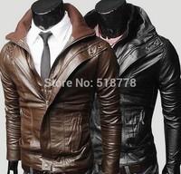 Mens Leather Winter Jackets lether down jacket  Pu Men jaqueta Men's Jaquetas E Casacos De Couro Masculino Set Trench Coat