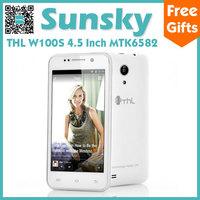 Original THL W100S MTK6582 Quad Core Cell Phone Android 4.2 4.5inch IPS Screen 1GB RAM 4GB ROM 12.6MP Camera Dual Sim 3G GPS