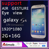 "original galaxy  I9500 S4 5.0""IPS 1920*1080 mtk6589 four core RAM 2G+ROM 16G 13MP support AIR GESTURE and Eye view.free shipping"