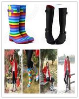 новые сапоги женщин животных лошадь шаблон дождя сапоги резиновые водонепроницаемый galoshoes езда ботинки botas