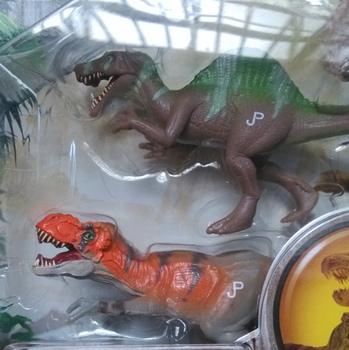 Famous brand Jurassic Park 2pcs/set Spinosaurus VS Tyrannosaurus rex dragon dinosaurs low price toys for boys With Box KL0004