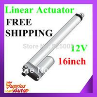 Free shipping 406mm/ 16inch stroke 900N/ 90kg/198lbs 12V DC linear actuators model SL14