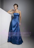 Blue Champagne 2014 Strapless Rhinestone Printed Fishtail Evening Dress Party Dress