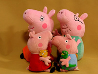 EMS Free shipping AU NZD Peppa Pig family plush toy set Daddy Pig Mummy Pig Peppa Pig George Pig
