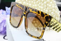 free  shipping  fashion oversized metal chain twisted riskier sunglasses new colors