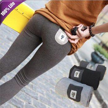 Free Shipping Long Tenths Leggings Pants for Boots Autumn Cute Cat Women's Slim Pencil Pants