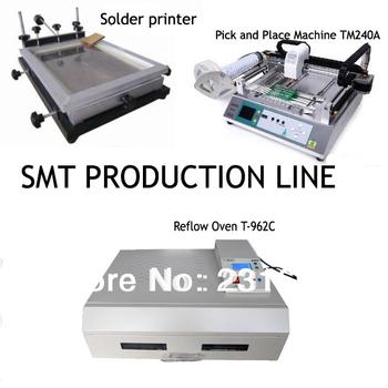 Production line -SMT pick and place machine TM240A,reflow ovenT-962C, Stencil printer,Desktop,Automatic,PNP Machine,Manufacturer