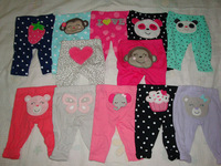 Brand Carter's Baby boy's girl's newborn cotton animal pattern bebes 2-piece pants together sell retail very value