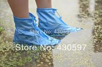 2 pairs 2013 Fashion Rain shoes cover Women/men/kids children thicken waterproof Rainproof Boots portable in bags free shipping
