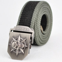 Hot sale thicken canvas Punk Skull military belt Army tactical belt top quality men strap 16 colors free shipping AB022