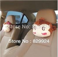 2pcs/Lot free shipping Cute Monkey Lovers Car Neck Pillow/Auto headrest pad