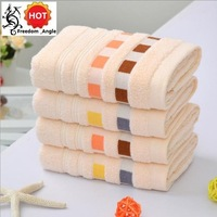 100% cotton towel cheap fashionable plaid gift towel kitchen towel bathroom wash face (34*76cm) #041