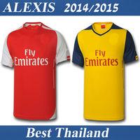 ALEXIS RAMSEY OZIL Giroud Walcott 14 15 2015 Best Thailand Quality Soccer Jersey Shirt Jersey Home Customize Name