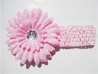 Fashion Baby Headbands Big Flower Lacework Baby Hair Band Beautiful Baby Girl Hair Accessories Infant Headband XM-134