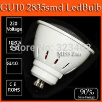 1PCS/lot led bulb lamp High brightness gu10 3w 5w 2835SMD AC220V 230V 240V COB GU10 12w 15w 85-264V led Spotlight  Free shipping