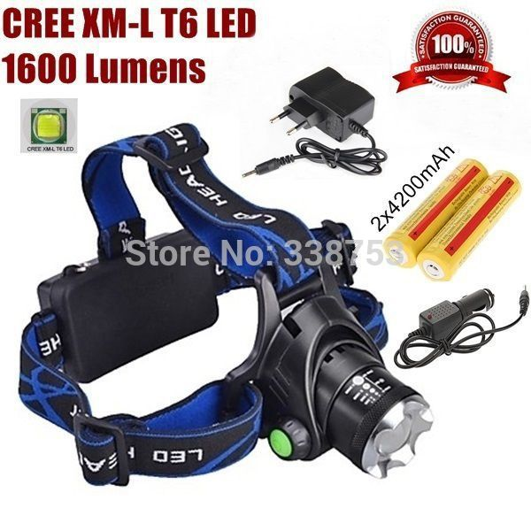NEW 2000 Lumen 24w CREE XML T6 LED Headlamp/ Bike lights Coal Miner Zoom Focus LED Head Lamp Torch Cree Light Outdoor Free ship(China (Mainland))