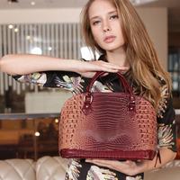 Free shipping!!!2013 Summer New arrival crocodile pattern women's PU leather handbag messenger bag