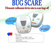 Hot sale Free  Shipping 10pcs/lot Wholesale Practical Electronic ultrasonic  Insect Mosquito Rat Bug Scare Machine