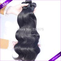 "She hair 6A malaysian virgin hair body wave 4pcs/lot,cheap malaysain body wave natural black hair 8""-30"",soft human hair weave"