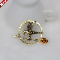 Factory Wholesale Cheap Hunger Games Pins Bird Brooches For Women And Men New Fashion 2013 Free Shipping, XZ003-[Gorgeous Store]