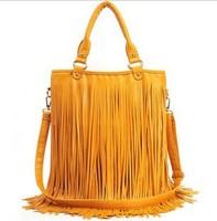 2013 New Women's Fashion Punk Tassel Fringe Fashion PU Leather Handbag Shoulder Bag Tote Bag in Stock