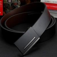2014 New Men's Belt Fashion genuine leather Belt metal buckle brand Gift belt for Men Boyfriend birthday gift free shipping