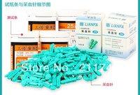 50pcs diabetic strips and 50pcs lancets glucosemeter strips/ test strips/sugar test strips/testing diabetes   3pack/lot