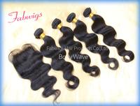 Freeshipping Unprocessed Human Virgin Hair Lace Closure With Bundles Body Wave Human Virgin Extentions Brazilian Virgin Hair