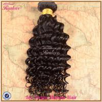 "Peruvian virgin hair deep wave 1pc 8""-30"" unprocessed human hair weaves Realove Cheap Peruvian Curly Virgin Hair extension"