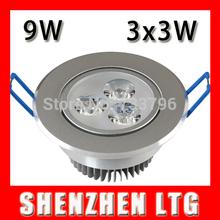9W 3*3W LED Ceiling Downlight Epistar LED Recessed Light Spot light Indoor Lighting AC100-245V For Home illumination 5pcs/lot(China (Mainland))