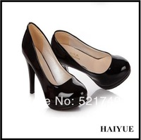 Summer And Autumn Fashion 2013 Four color Black High Heels Shoes Women  Pumps Sandals Single Shoes Round Toe Desiger Causal Pump