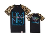 Diamond Supply Co Men t shirts camouflage leopard short sleeve blouse Hip hop Men fashion Clothes Floral Hip hop tees&tops