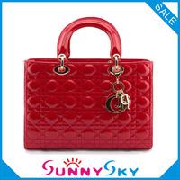 Free Shipping Big size 2013 Lady  Fashion Handbag Real Genuile Leather Shoulder Bag For Women Patent Leather Wedding Bag