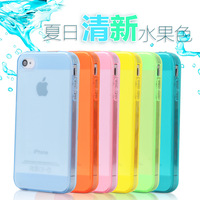 10pcs/lot 13colors in stock for apple iphone 5 iphone5 5s case ultrathin TPU transparent with Dust plug dustproof back cover