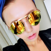Minimum order $10 New hot sell fashion of women metal frame sunglasses hot  color optional high quality new products