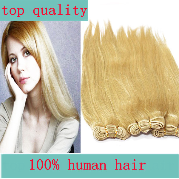 Queen King hair,Brazilian virgin Human  hair Beyonce blonde #613 GRADE AAAAA weft bulk hair,Cheapest lowest prices best quality