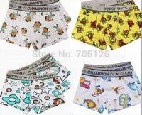 Free Shipping Kids Cartoon Monkey Panties Underwear Boys Cotton Lycra Children's Underpants Boxer Briefs 12pcs/lot